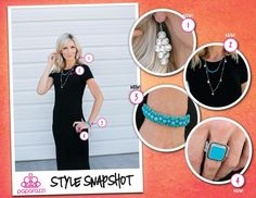 A little black dress means endless accessorizing options because of its sleek neutral backdrop. Here, we've added a cooling splash of turquoise and airy silver discs to keep the look light and refreshing in the summer heat. With countless $5 accessories at your fingertips, what summer styles can you create?