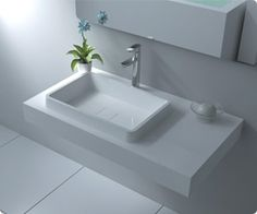 Badeloft WT-01 Stone Resin Wall-mounted Sink