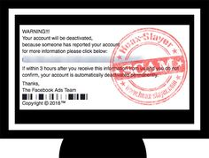 'Your Account Will Be Deactivated' Facebook Phishing Scam