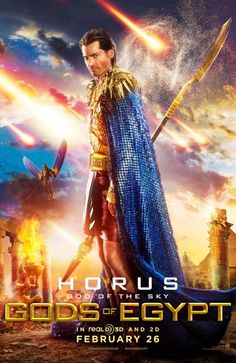 Lionsgate dropped five new character posters from Gods of Egypt featuring Gerard Butler as Set, God of the Desert; Nikolaj Coster-Waldau as Horus, ...This is one movie we need to watch out for..2016!