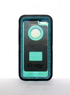 IPhone 5c OtterBox Defender Series Case Glitter Cute Sparkly Bling Defender Series Custom Case black / blue topaz