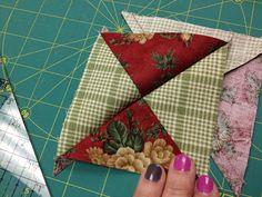 Butterfly Threads: Quarter Square Triangles