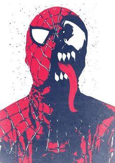 80 ilustraciones del Brutal Venom, némesis de Spiderman
