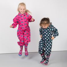 Make a splash with our brand new kid's splash suits! In a wide range of prints for boys and girls for all those summer shower needs. #splashsuit #rainwear #childrens #kids #junior #splish #splash #wellies #butterfly #flowers #butterflyprint #flowerprint #rain #rainclothing #allinone #rydale #rydaleclothing #countrywear #puddles #summer #winter #countryside