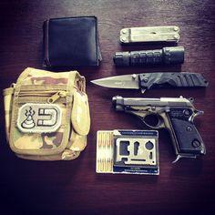 My EDC #m71 #22 #tgcworldwide #boker #leatherman #surefire #cci 22lr #beretta #mossad #foldingknife #pistol #led #pietroberetta #edc