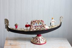 Vintage Italian Light Up Gondola Music Box with Dancer, Kitsch Mid Century Italy Souvenir, Romantic Gift Vintage Toys, Retro Vintage, Ballerina Legs, Italian Lighting, Vintage Italy, Kitsch, Light Up, Decorative Bowls, Mid Century