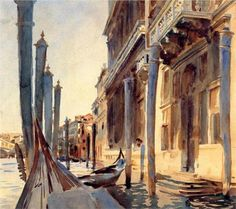 John Singer Sargent. Grand Canal, Venice, 1907. Watercolor. National Gallery of Art, Washingon, DC.