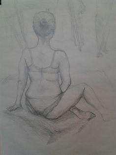 Studie figury (kresba tužkou)