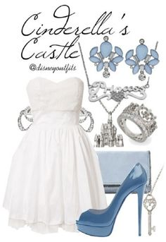 Disneybound outfits are so cute! Disney Themed Outfits, Disney Inspired Fashion, Character Inspired Outfits, Disney Bound Outfits, Disney Dresses, Disney Clothes, Disney Fashion, Cinderella Outfit, Cinderella Wedding