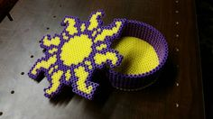 Rapunzel trinket box perler beads by MoralAmbiguity