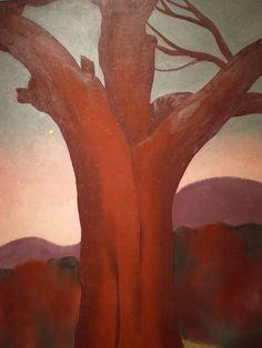 Georgia O'Keeffe 1924 'The Chestnut Red', Kemper Museum of Contemporary Art, Kansas City, Missouri Georgia O'keeffe, Georgia O Keeffe Paintings, Wisconsin, Tree Artwork, New York Art, Museum Of Contemporary Art, Art For Art Sake, Artist Art, American Artists