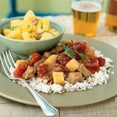 Indian-Spiced Pork in Tomato Sauce | MyRecipes.com