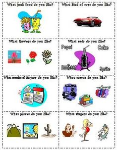 ESL 32 conversation cards