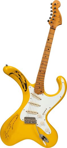 Bender Distortocaster, signed by Andy Warhol, designed by Brian Eastwood