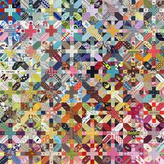 OMG, I definitely need to do one of these quilts, using my mountains of scraps