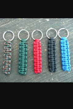 Paracord keychains comes in all sorts of designs. If questions feel free to message me on etsy. Every. Key chain comes with a spring clip hiking d ring