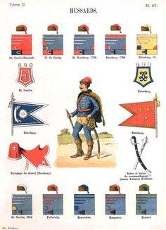 Гусары. Uniformes de I'Armee Francaise 1690-1894 Lienhart & Humbert