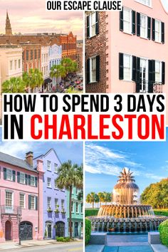 Planning to spend a few days in Charleston SC? Here's how to make the most of a weekend getaway in Charleston! 3 days in charleston sc | 3 day charleston itinerary | charleston weekend getaway | best things to do in charleston sc | best places to visit in charleston sc | charleston vacation guide | charleston travel tips | travel tips for charleston sc | romantic getaway in charleston sc | three days in charleston south carolina | best weekend getaways in usa | charleston weekend trip |