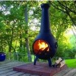 Solid cast aluminum construction with stainless steel hardware, fasteners, and mouth screen, the Prairie Chiminea is built to last. Clay Chiminea, Chiminea Fire Pit, Backyard Fireplace, Outdoor Fireplaces, Fireplace Ideas, Deck Colors, Raised Patio, Patio Makeover, Gardens
