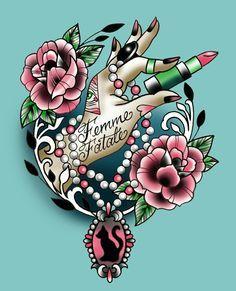 femme fatale tattoo - Google Search