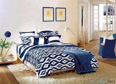 Синий европейском постельные принадлежности утешитель комплект покрывало в сумке лист пододеяльник спальня постельное белье простыня марка