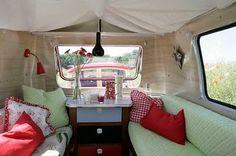 super cute travel trailer interior