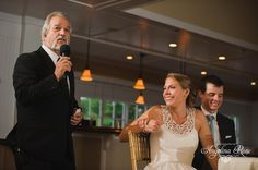 Cape Cod Wedding, The Ridge Club: Alissa and Mike. awww my daddy giving his speech
