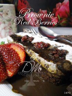Brownie com Framboesas e Morango = Delicioso!