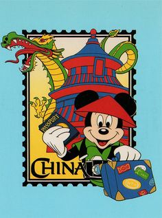 Mickey in China postcard by starberryshyne, via Flickr