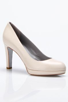 Sergio Rossi Rounded Toe Medium Matte Pumps In Beige    Great work shoes!