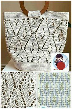 Crochet Shell Stitch, Basic Crochet Stitches, Afghan Crochet Patterns, Crochet Handbags, Crochet Purses, Crochet Bags, Magazine Crochet, Popular Crochet, Crochet Symbols