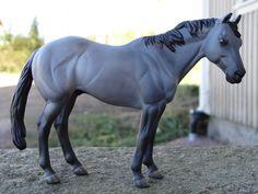 2015.Custom painted CollectA quarter horse. Custom by Zane Lahdenranta ( Frosty Birch Studio)