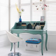 french writing desk, beautiful colour
