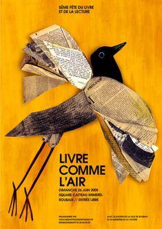 laura@popdesign- Beatrice Alemagna – Livre comme l'air  Poster for Roubaix book fair theanimalarium.blogspot.com/