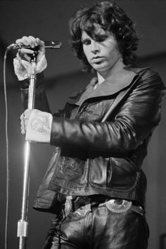 Jim Morrison at London's Roundhouse by Ethan Russell, 1968