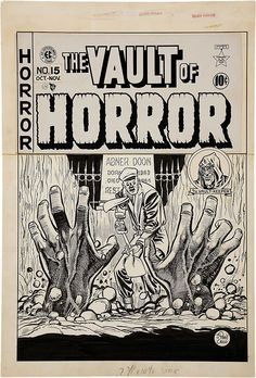 Original cover art by Johnny Craig from The Vault of Horror #15, published by EC Comics, October 1950.