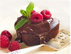 Truffle Chocolate Cake with Raspberry Sauce recipe