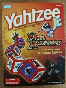 Duel Masters Yahtzee Jr Board Game Dice Matching