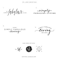 Simply Fabulous Living logo process