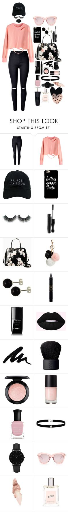 """""""Haters Gonna Hate"""" by elliskhanby on Polyvore featuring WithChic, Nasaseasons, Kate Spade, GUESS, MAC Cosmetics, Chanel, NARS Cosmetics, Deborah Lippmann, Amanda Rose Collection and CLUSE"""