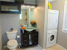 bathroom with washer and dryer - Recherche Google
