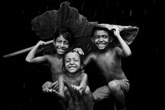 "Honorable Mention – ""Enjoying the rain"" by Sanghamitra Sarkar, India 