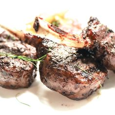 Grilled Lamb Cutlets with Pan-fried la Ratte Potatoes Grilled Lamb, Fried Potatoes, Mediterranean Recipes, Fine Dining, Restaurant Bar, Fries, Steak, Grilling, Food
