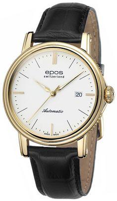 Мужские часы Epos 3390.152.22.10.25 Watches, Leather, Accessories, Wristwatches, Clocks, Jewelry Accessories