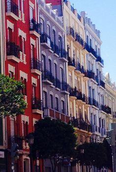 Barrio de Ruzafa en Valencia, España
