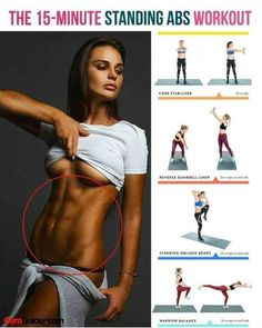 If you're looking to really challenge and sculpt your core, try pausing the floor work in flavor of this 6 move standing abs workout. The beauty of standing abs moves is that they not only engages Fitness Workouts, Abs Workout Routines, Sport Fitness, At Home Workouts, Health Fitness, Ab Workouts, Health Exercise, Motivation Yoga, Standing Ab Exercises