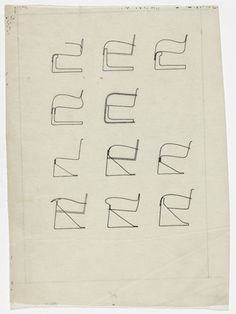 Chairs with Arms Ludwig Mies van der Rohe (American, born Germany. 1886–1969)  1934-1935. Ink and pencil on tracing paper, 12 x 8 7/8 (30.5 x 22.5 cm). Mies van der Rohe Archive, gift of the architect. © 2013 The Museum of Modern Art, New York