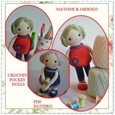 PATTERN Miniature crochet doll pattern Two Dolls von chepidolls