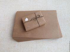 Купить Крафт-бумага А4 (21х30 см) - коричневый, бумажный пакет, пакет, пакет для мыла