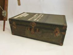 Military Medical Trunk. WWII or Korea. via owlsongvintage, $185.00